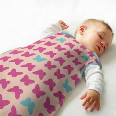 The Gro Company - Simply Grobag Butterflies Blue and Pink (Jersey) - 1.0 Tog / 2.5 Tog