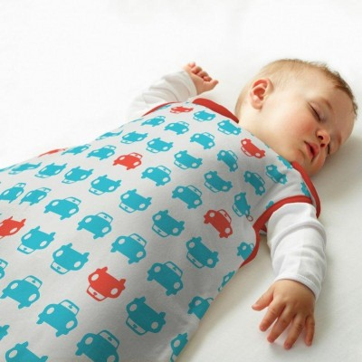 The Gro Company - Simply Grobag Cars Turquoise and Red (Jersey) - 1.0 Tog / 2.5 Tog
