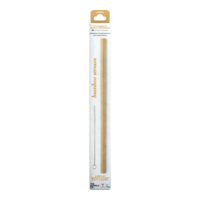 The Humble Co. Humble Bamboo Straw (4-Pack) with Cleaner