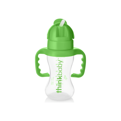 Think Thinkster  - Straw bottle 9oz - PP - Lt Green