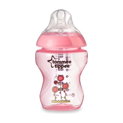 Tommee Tippee Closer to Nature PP Tinted Decorated Bottle 260ml - Pink
