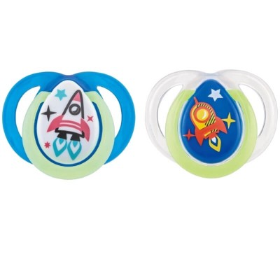 Tommee Tippee Closer to Nature Night Time Soother 0-6m (Twin Pack) - Rocket