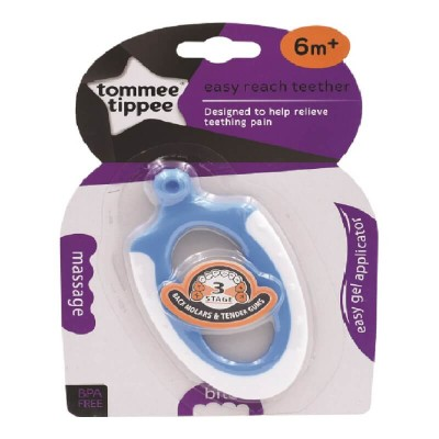 Tommee Tippee Easy Reach Teether 6m+ - Blue