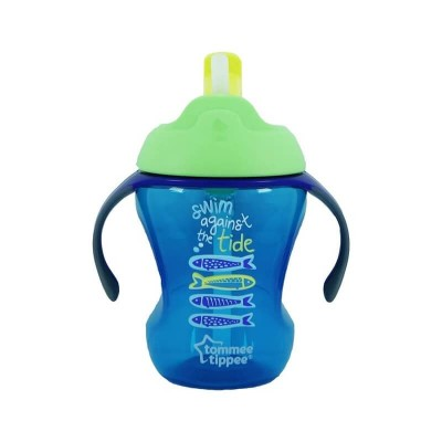 Tommee Tippee Trainer Straw Cup 230ml (9m+) - Green / Blue