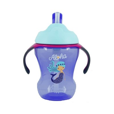 Tommee Tippee Trainer Straw Cup 230ml (9m+) - Light Blue / Purple