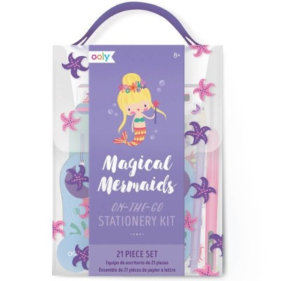 Ooly Travel Stationery Kit – Magical Mermaids