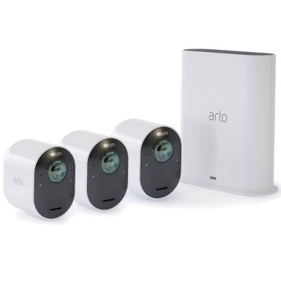 Arlo Ultra 4K UHD Wire-Free Security System - 3 Camera Kit (VMS5340-100NAS)