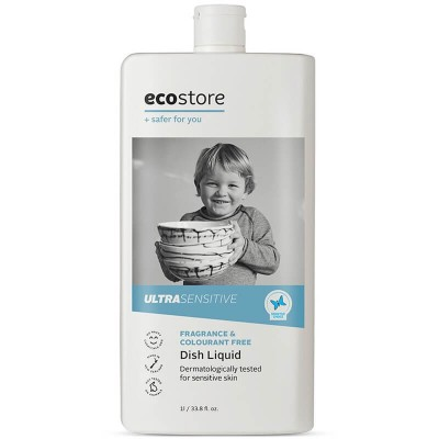 Ecostore Ultra Sensitive Fragrance & Colourant Free Dish Liquid 1L