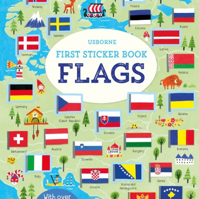 Usborne Usborne First Sticker Book - Flags