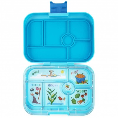 Yumbox Original - 6 compartment - Blue Fish, California Kids