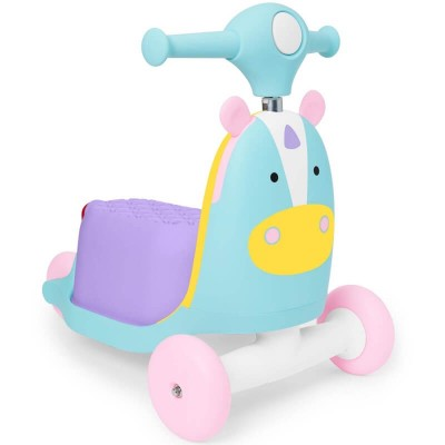 Skip Hop Zoo 3-in-1 Ride On Toy - Unicorn