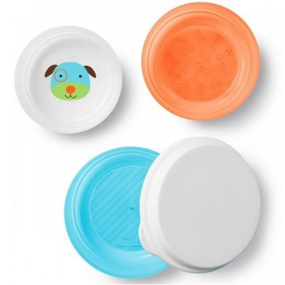 Skip Hop Zoo Smart Serve Non-Slip Bowls (3-Pack) - Dog