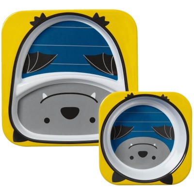 Skip Hop Zoo Tabletop Melamine Set - Bat