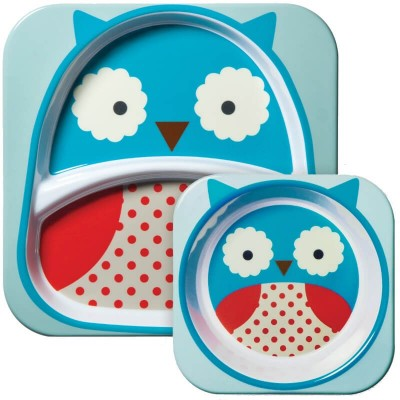 Skip Hop Zoo Tabletop Melamine Set - Owl