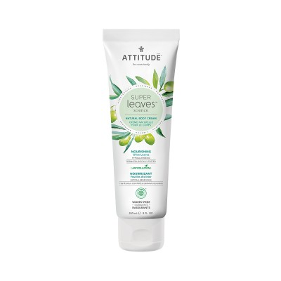 ATTITUDE Super Leaves Science Natural Body Cream - Olive Leaves 240ml