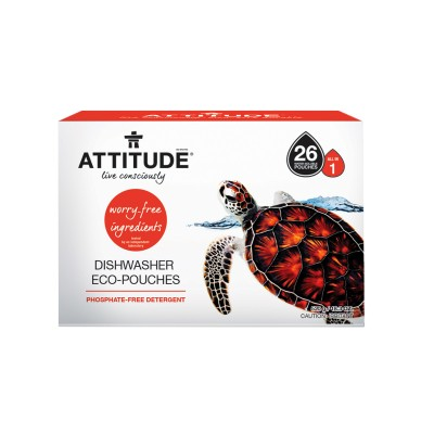 ATTITUDE Dishwasher Eco-Pouches - 40 Pouches (800g)