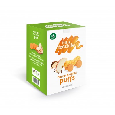 Little Freddie Organic Carrot and Apple Puffs 2x20g (6 mos+)