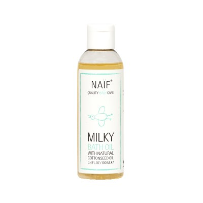 Naif Milky Bath Oil with Natural Cottonseed Oil 100ml