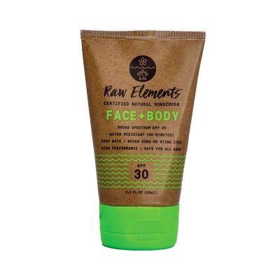 Raw Elements Face & Body Sunscreen SPF30 Tube 88ml