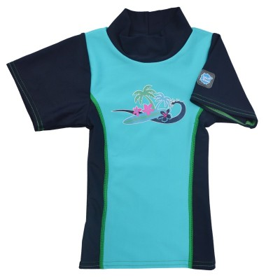 Splash About Rash Top - Surf Turquoise