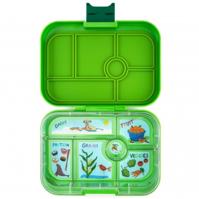 Yumbox Original - 6 compartment - Avocado Green, California Kids