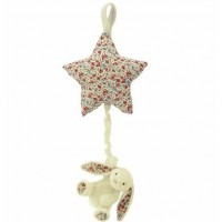 Jellycat Blossom Bashful Cream Bunny Star Musical Pull
