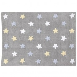Lorena Canals Tricolor Stars Grey-Blue 120x..